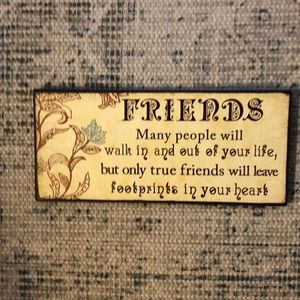 Decorative sign. FRIENDS